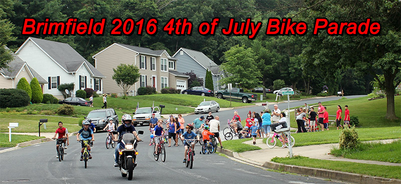 Brimfield July 4 Bike Parade 2016
